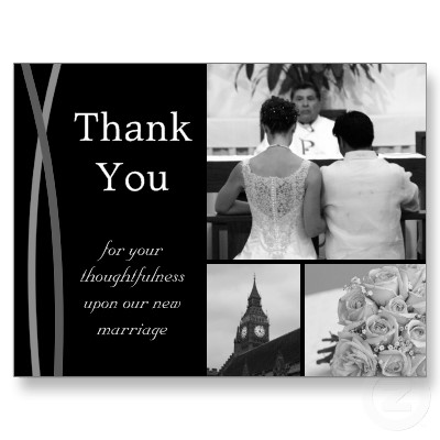 Wedding Gift Card Thank You : Thank you cards with an image from your wedding.
